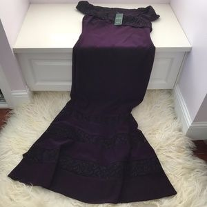 Lauren Ralph Lauren Purple Lace Gown